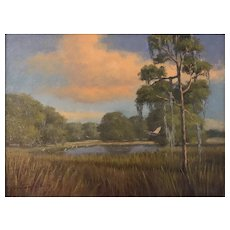 Florida Artist, Jacquelyn Schindehette Oil Painting