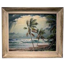 Sam Newton Highwaymen Florida Oil Painting 20th Century