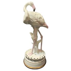 Rosenthal 1921 /1922 Art Deco Flamingo Figural Centerpiece with Flower Frog, Adolf Opel design
