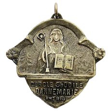 French Saint Odile Religious Medal Odile of Alsace Catholic Lucky Charm Protection Necklace