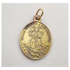 Guardian Angel Religious Medal Jesus Salvator Mundi Charm Catholic Medal Pope Leon XII Jubilee Religious Lucky Charm