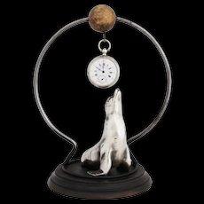 Vintage French Sea Lion Pocket Watch Holder Art Deco Pocket Watch Stand