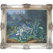 """Benjamin Raspail (1823 1899) """"Fleurs de Parintemps"""" 1868 Still Live Oil Painting"""