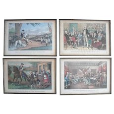 Currier & Ives Early Reprint Set of 12 The Life of George Washington