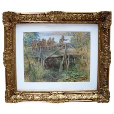 John Adam Plimmer HOUSTON (1812-1884) Scottish School Watercolour.