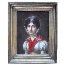 French School c1810 Oil Painting.