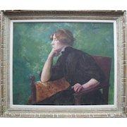 French School Impressionist  Portrait c1895 Intriguing Provenance.