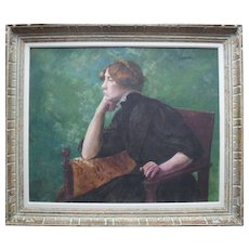 French School Impressionist  Portrait c1895 Intriguing Provenance.