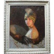 Lipót Illencz (1882-1950) Munich School c1925 Post Impressionist Art Deco Oil Painting