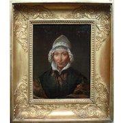 Portrait French School c1820 Oil Painting