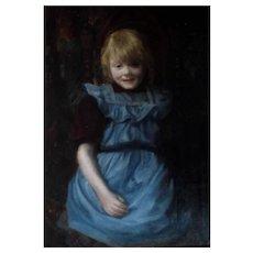 Danish School Late 19th Century Oil Painting.