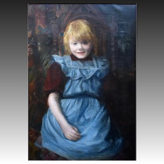 Danish School Late 19th Century Oil Painting. Charlottenborg Label , The Danish Royal Academy.