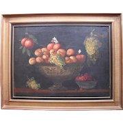 Dutch Still Life c1780 Initialled JB Oil Painting.