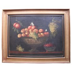 Dutch Still Life c1780 Initialled JB Oil Painting.