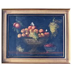 Large Dutch Still Life c1850 Initialled JB Oil Painting
