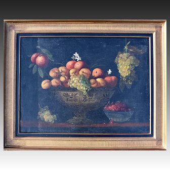 Large Dutch Still Life c1780 Initialled JB Oil Painting