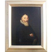 Early Dutch Portrait c1630, Oil Painting.