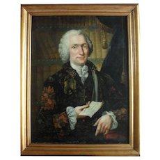 Christian Friedrich SPINDLER (1742-) Portrait of of Charles-Simon Favart dated 1761