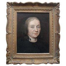 Dutch School Golden Age Portrait c1665. Oil Painting.