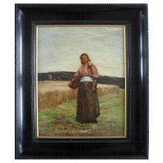 Robert McGowan COVENTRY ARSA HRSA RSW (1855-1941) Scottish Oil Painting 1878