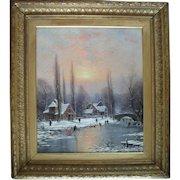 Nils Hans CHRISTIANSEN R.A.C.(1850-1922) Danish Oil Painting.