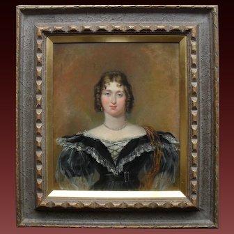 Sir George Hayter (1792-1871) Mrs Woods October 1836. Oil Painting.