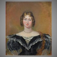 Sir George Hayter (1792-1871) Mrs Woods October 1836. Oil Painting.