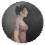 Pair of Regency Period portraits c1820 English School