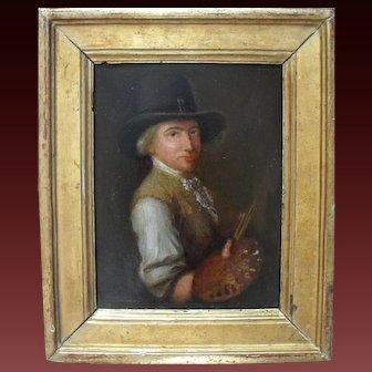 Portrait of an Artist English School c1790 Oil Painting