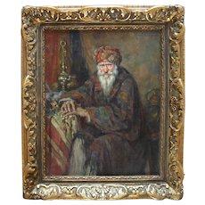 Léonie HUMBERT-VIGNOT (1878-1960) French Orientalist Portrait c1910 Oil Painting