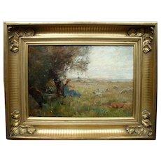 """James Herbert SNELL (1861-1935) """"Summer"""" Oil Painting. St Ives School"""