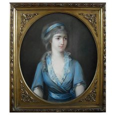 French Pastel 19th Century Portrait