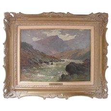 Alfred Fontville II DE BREANSKI (1877-1957) Ogwen Moors North Wales Oil Painting.