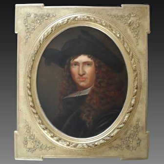 French 18th Century Portrait of a Notary Oil Painting