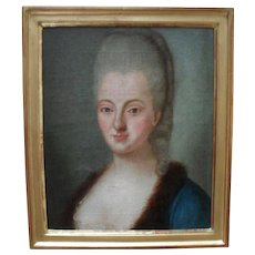 Portrait of an 18th Century French Aristocrat c1780. Oil Painting.