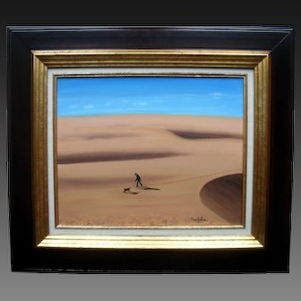 Fred ZELLER (1912-2003) French Surrealist Oil Painting