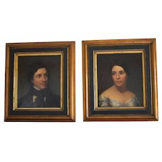 A Pair of Portraits Attributed to Jacob Hart LAZARUS (1822-1891) New York Artis