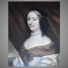 Old Master Portrait c1680 Oil Painting