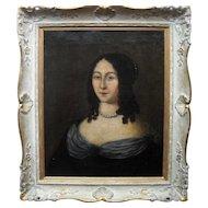 Anne de Polastron de La Hilliere c1650 French School Oil Painting.