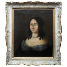 Anne de Polastron de La Hilliere c1650 French School Oil Painting.