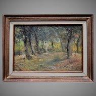 Gabriel GRIFFON (1866-1938) Impressionist Landscape 1905. Oil Painting.