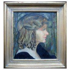 Tor Otto FREDLIN (1890-1955) Swedish School Profile Portrait 1932