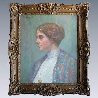 Jacques MARTIN (1844-1919) Lyonnais School c1895 Follower of Renoir.