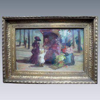 French Impressionist Period With Collectors Stamp Verso