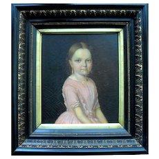 19th Century Portrait c1840. Oil Painting