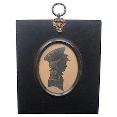 Georgian Portrait Miniature Silhouette of a Child c1830