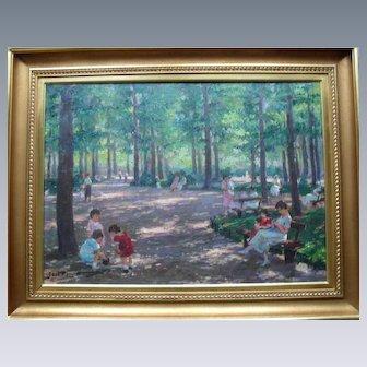 Ferenc GAAL (DEBRECEN, 1891 - 1956, LOS ANGELES) Impressionist Oil Painting.