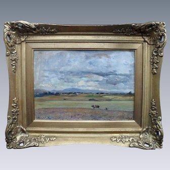 "James Herbert SNELL (1861-1935) ""Autumn Landscape"" English School Oil Painting."
