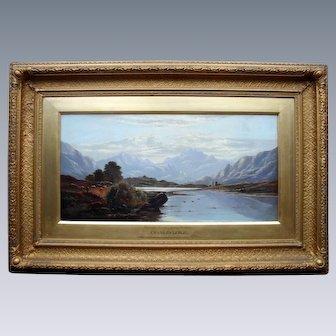 "Charles LESLIE (1835-1890) ""Evening Loch Linnhe Perthshire"" 1881 Scottish Sch."