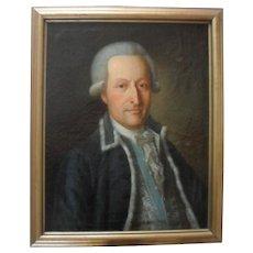 Danish School c1775 Portrait of a Gentleman.Oil Painting.